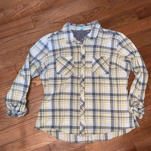 Xl plaid flannel with button up Back